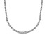 Pre-Owned Bella Luce® 20.02ctw Round Diamond Simulant Rhodium Over Silver Tennis Necklace