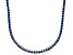 Pre-Owned Bella Luce® 20.02ctw Round Tanzanite Simulant Rhodium Over Silver Necklace