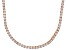 Pre-Owned Bella Luce® 20.02ctw Round Diamond Simulant 18k Rose Gold Over Silver Necklace