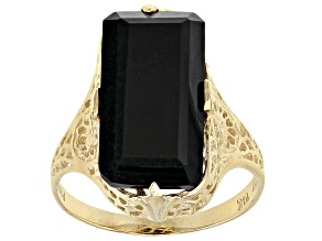 Black Onyx 10k Yellow Gold Ring