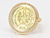 10k Yellow Gold And Bronze Coin Ring