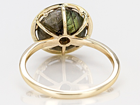 Grey Labradorite 10k Gold Ring