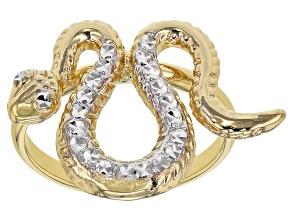 10k Yellow Gold Snake Ring