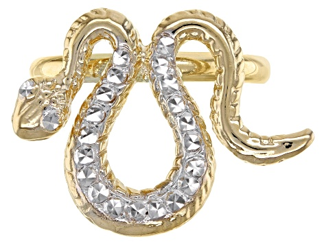 10k Yellow Gold Snake Ring