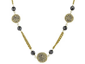 Black Onyx 10k Yellow Gold Necklace