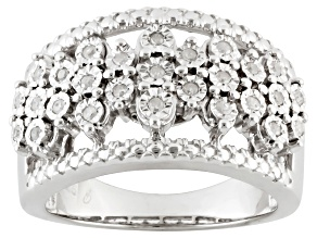 Diamond Sterling Silver Ring .20ctw