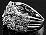 Diamond Sterling Silver Ring .50ctw