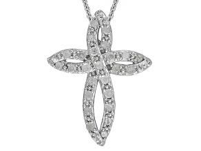 Diamond Sterling Silver Pendant .50ctw