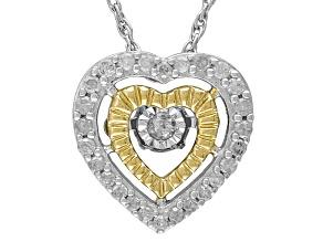 Diamond Sterling Silver Pendant .20ctw