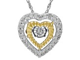 Diamond Sterling Silver Pendant .20ctw