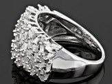 Diamond Rhodium Over Sterling Silver Band Ring 1.00ctw