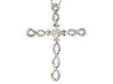 Diamond Rhodium Over Sterling Silver Pendant With Chain .50ctw