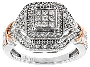 Diamond Sterling Silver Ring .35ctw