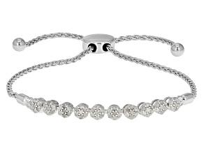 Diamond Silver Bracelet .50ctw