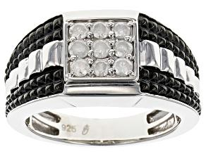Diamond Silver Ring .50ctw
