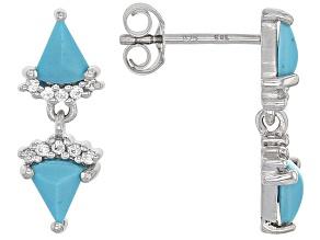 Blue Sleeping Beauty Turquoise Sterling Silver Earrings