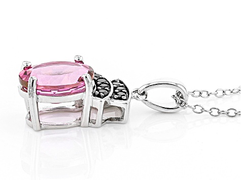 Pink Danburite Sterling Silver Pendant With Chain 2.24ctw