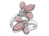 Pink Peruvian Opal Sterling Silver Bypass Ring