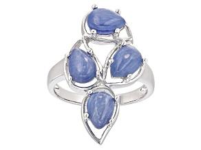 Blue Kyanite Sterling Silver 4-Stone Ring