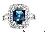 London Blue Topaz Sterling Silver Ring 3.00ctw