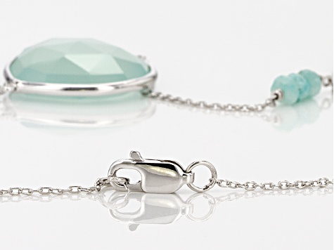 Blue Chalcedony Sterling Silver Necklace