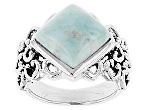 Blue Larimar Sterling Silver Ring