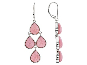 Pink Peruvian Opal Sterling Silver Dangle Earrings