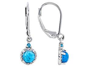 Blue Neon Apatite Sterling Silver Earrings 1.00ctw