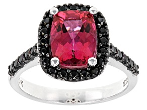 Pink Danburite Sterling Silver Ring 2.36ctw
