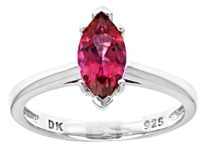 Pink Danburite Sterling Silver Solitaire Ring .88ctw