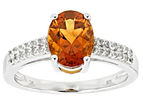 Orange Madeira Citrine Sterling Silver Ring 1.55ctw