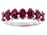 Red indian Ruby Sterling Silver Band Ring 1.86ctw
