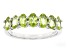 Green Peridot Sterling Silver Band Ring 1.43ctw