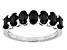 Black Spinel Sterling Silver 7-Stone Band Ring 1.60ctw