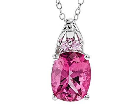 Pink Danburite Sterling Silver Pendant With Chain 1.99ctw