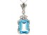 Sky Blue Topaz Sterling Silver Pendant With Chain 11.67ctw