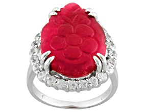 Red Onyx Sterling Silver Ring 1.30ctw