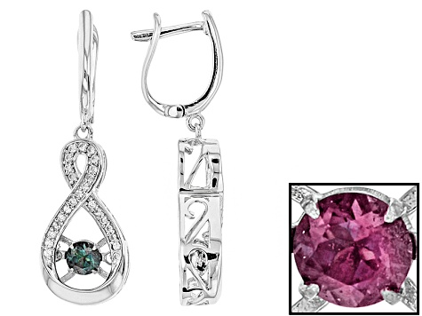 167e29541 Color Change Lab Created Alexandrite Sterling Silver Earrings .86ctw -  PSH199 | JTV.com