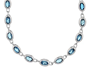 London Blue Topaz Sterling Silver Necklace 19.00ctw