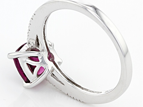Purple Rhodolite Sterling Silver Ring 1.53ctw