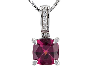 Purple Rhodolite Sterling Silver Pendant With Chain 1.46ctw