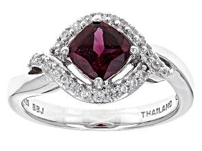Purple Rhodolite Sterling Silver Ring 1.06ctw