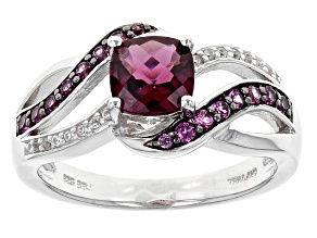 Purple Rhodolite Sterling Silver Ring 1.16ctw