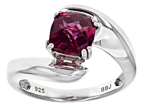 Purple Rhodolite Sterling Silver Ring 1.50ctw