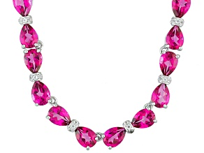 Pink Topaz Sterling Silver Necklace 20.08ctw