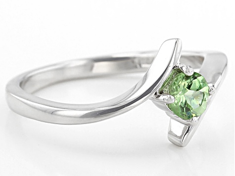 Green Tsavorite Sterling Silver Ring .32ct