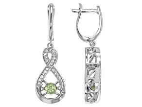 Green Tsavorite Sterling Silver Earrings .81ctw