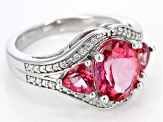 Pink Danburite Sterling Silver Ring 3.53ctw