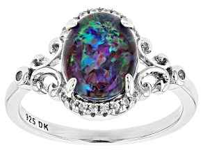 Multicolor Opal Triplet Sterling Silver Ring .09ctw