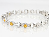 Orange Spressartite Sterling Silver Bracelet 1.38ctw